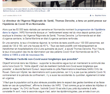 Article La Manche Libre (21/10/2020)