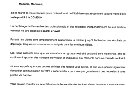 Suspension des visites