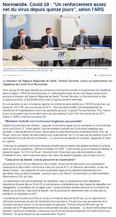 Article La Manche Libre (21/10/2020)